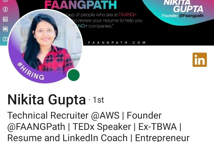 Nikita Gupta's LinkedIn profile